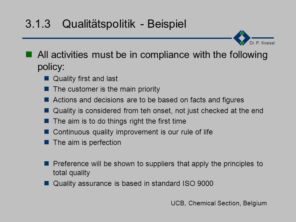 313 qualittspolitik beispiel - Qualitatspolitik Beispiel