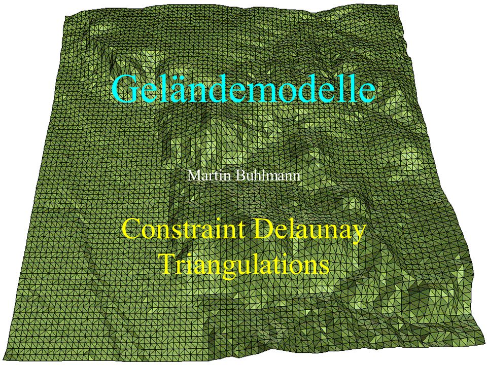 Constraint Delaunay Triangulations