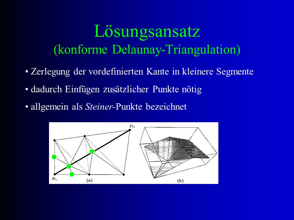 Lösungsansatz (konforme Delaunay-Triangulation)