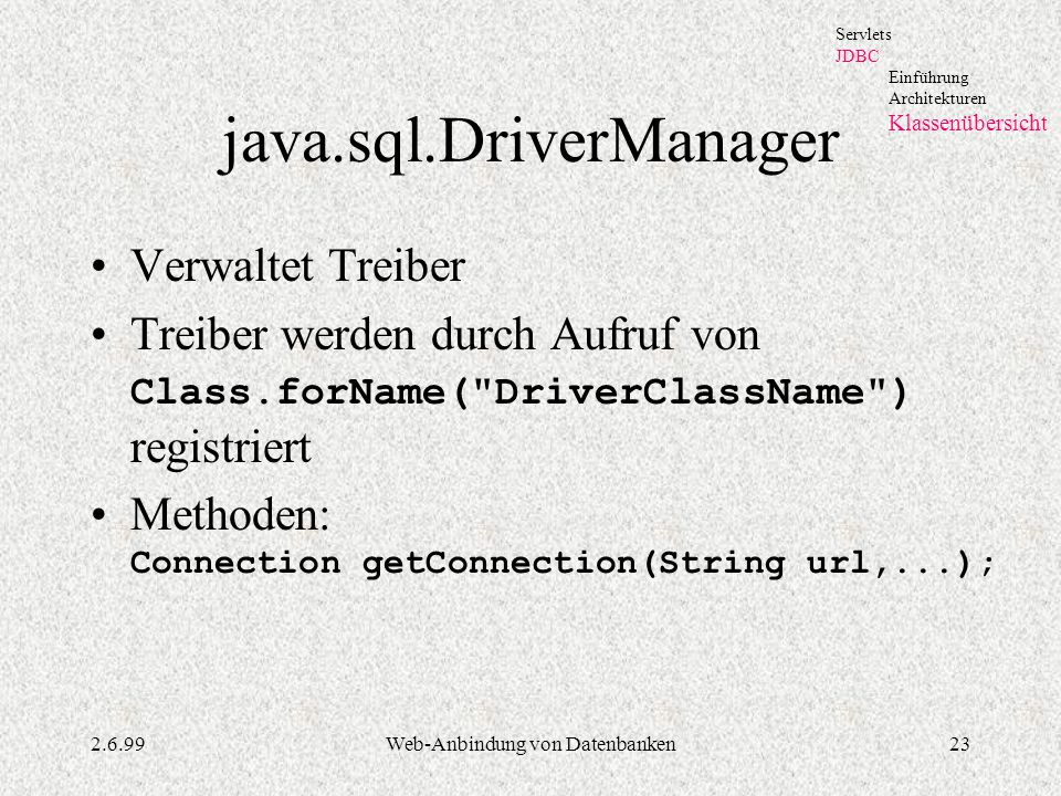 java.sql.DriverManager