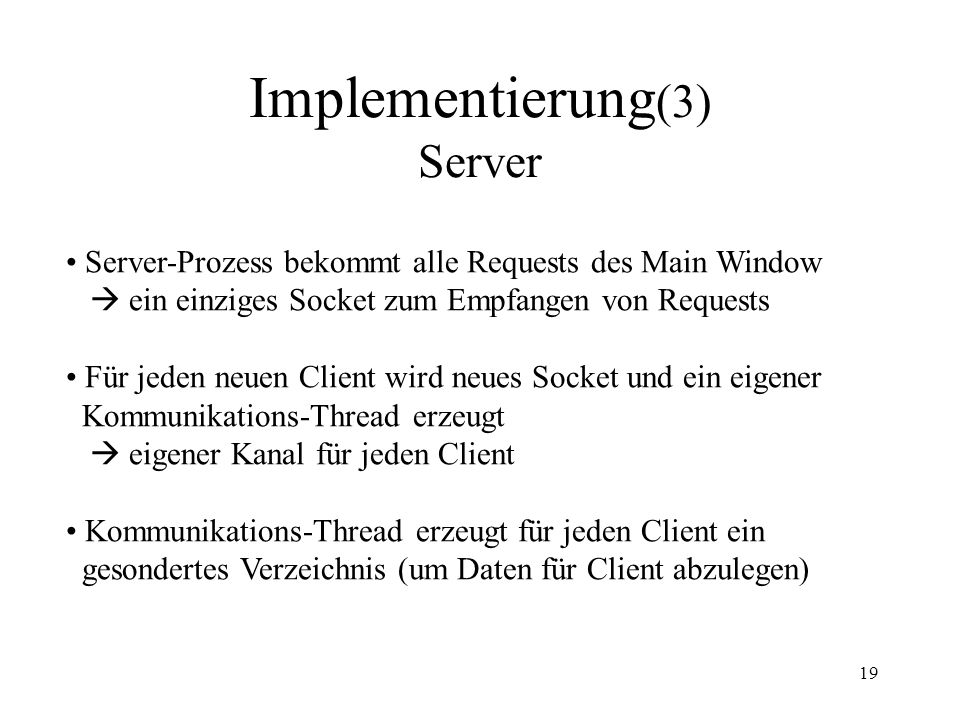 Implementierung(3) Server