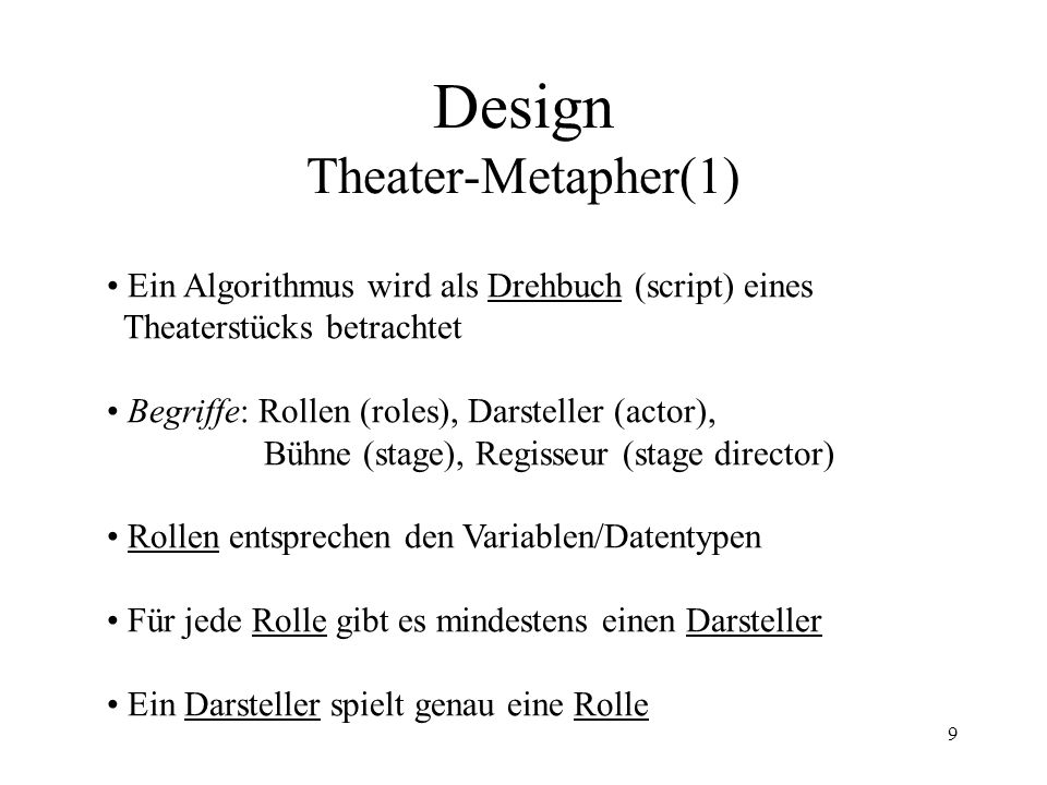 Design Theater-Metapher(1)
