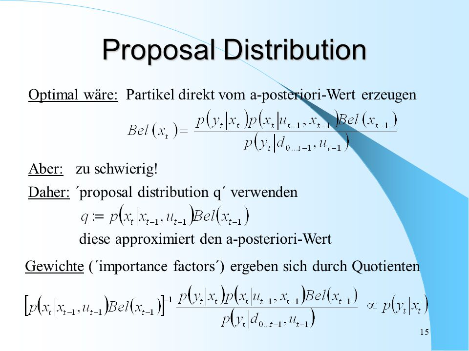 Proposal Distribution