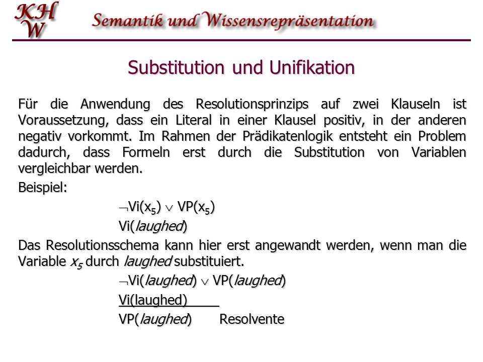 Substitution und Unifikation