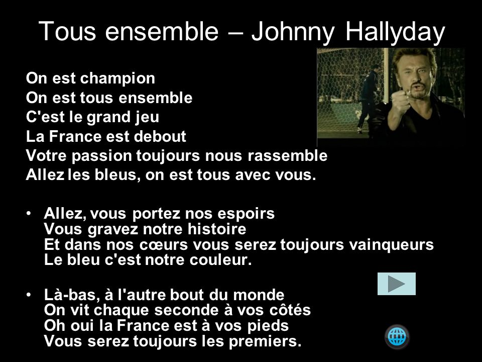 Tous ensemble – Johnny Hallyday