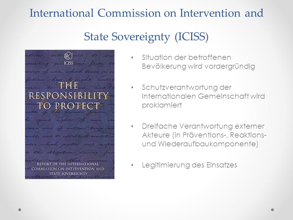 International Commission on Intervention and State Sovereignty (ICISS)