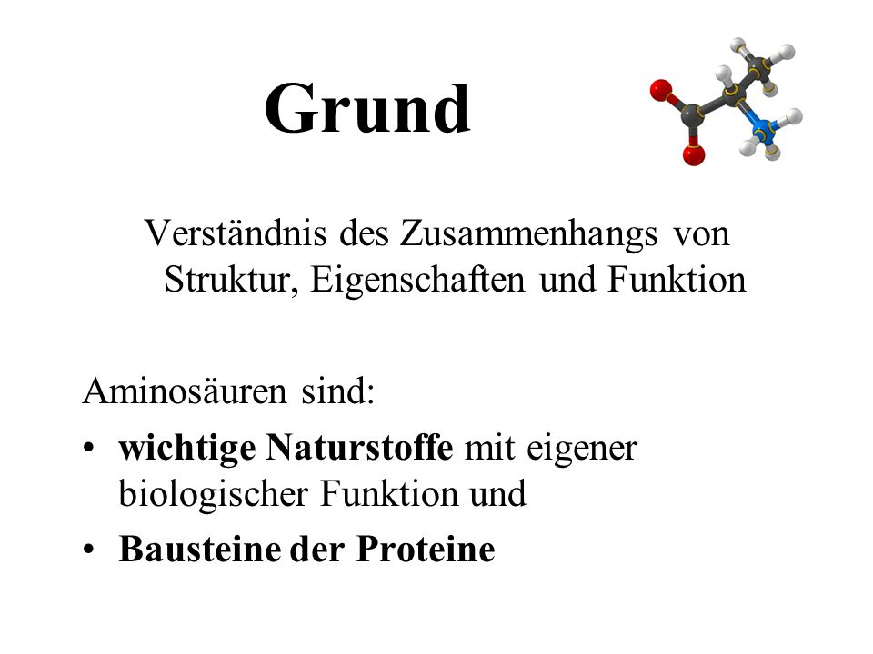 Die Bausteine der Proteine - ppt herunterladen