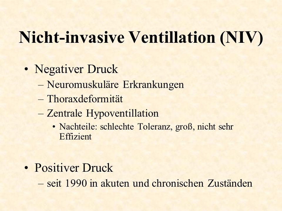 Nicht-invasive Ventillation (NIV)