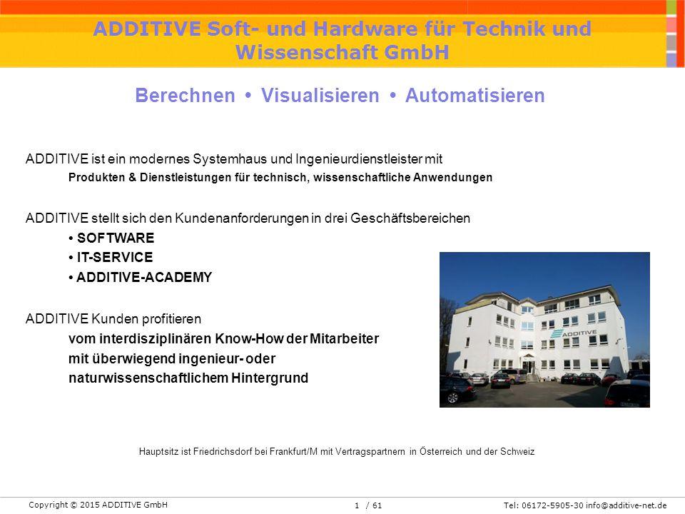ADDITIVE Soft- und Hardware für Technik und Wissenschaft GmbH - ppt ...