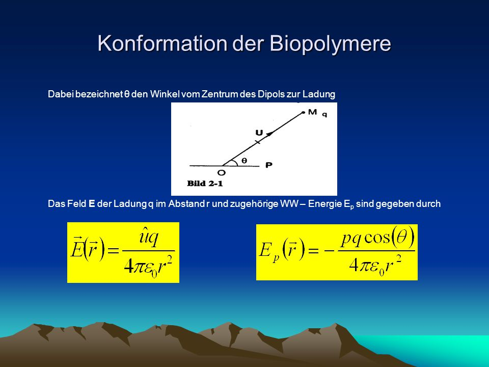 Konformation der Biopolymere