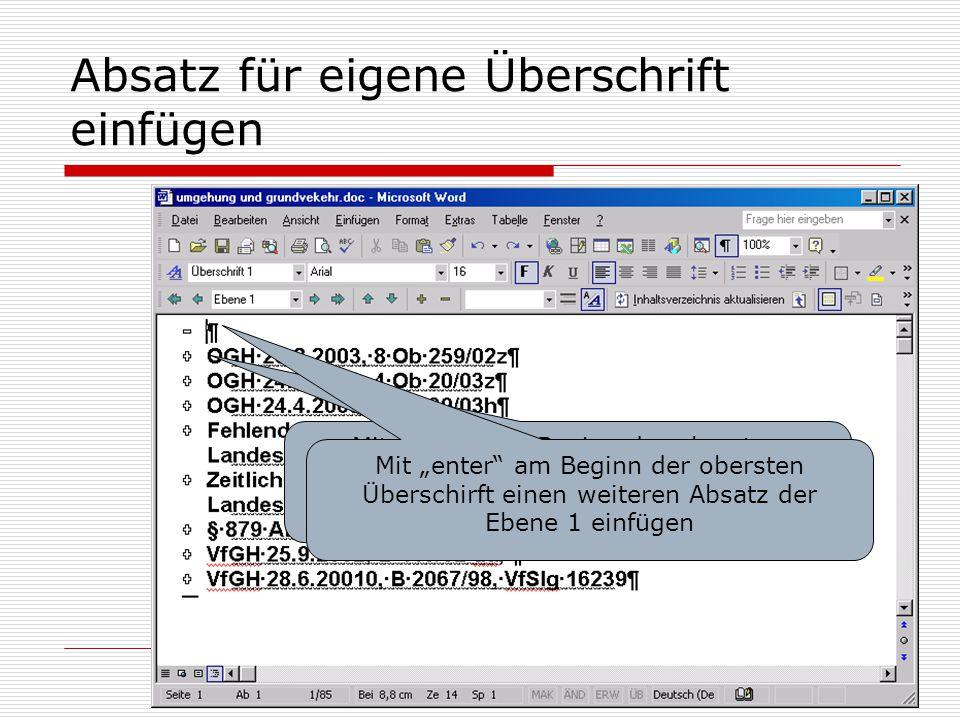 Formatierung von Recherche-Ergebnissen in MS-word - ppt herunterladen