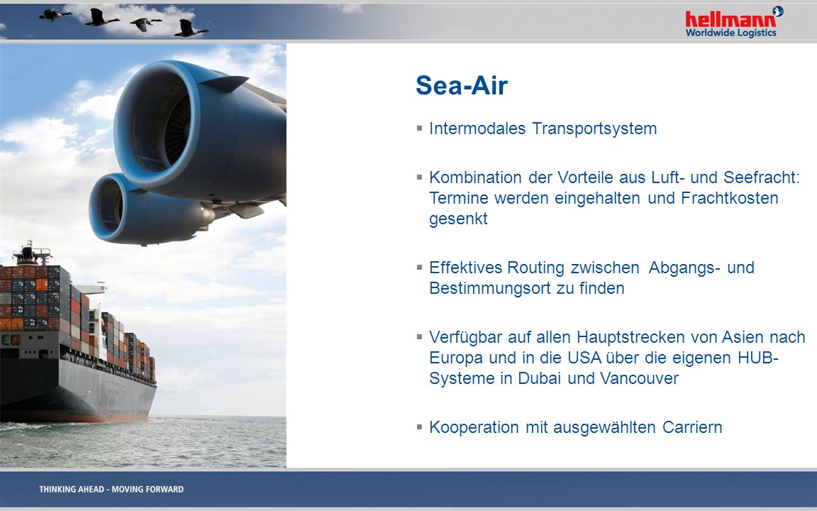 Sea-Air Intermodales Transportsystem