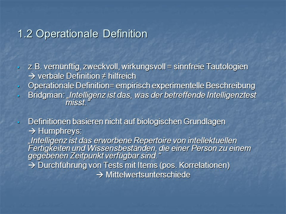 1.2 Operationale Definition