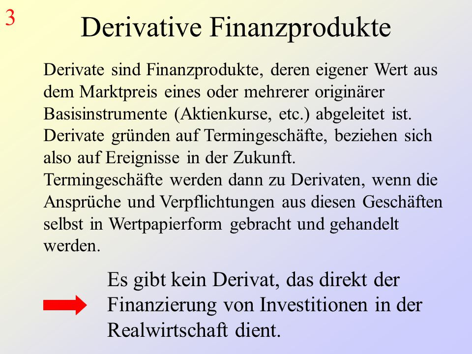 Derivative Finanzprodukte