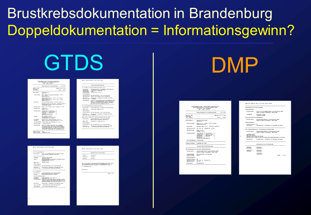 GTDS DMP Brustkrebsdokumentation in Brandenburg