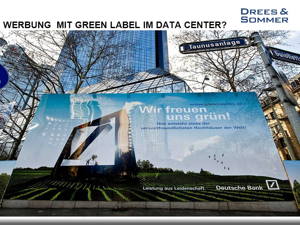 WERBUNG MIT GREEN LABEL IM DATA CENTER