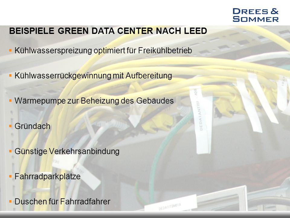 BEISPIELE GREEN DATA CENTER NACH LEED