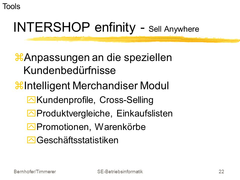 INTERSHOP enfinity - Sell Anywhere