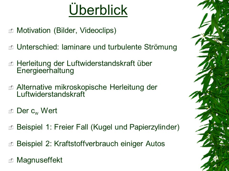 Überblick Motivation (Bilder, Videoclips)