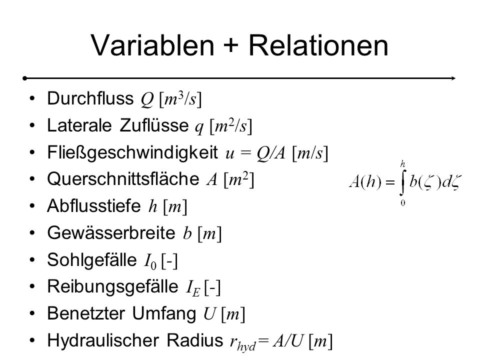 Variablen + Relationen