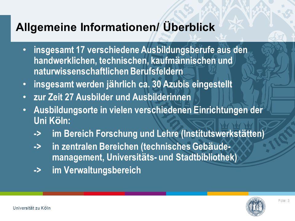 3 allgemeine informationen berblick - Uni Koln Bewerbung