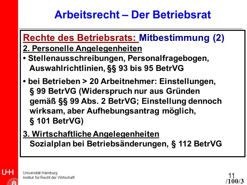 11 Arbeitsrecht Der Betriebsrat