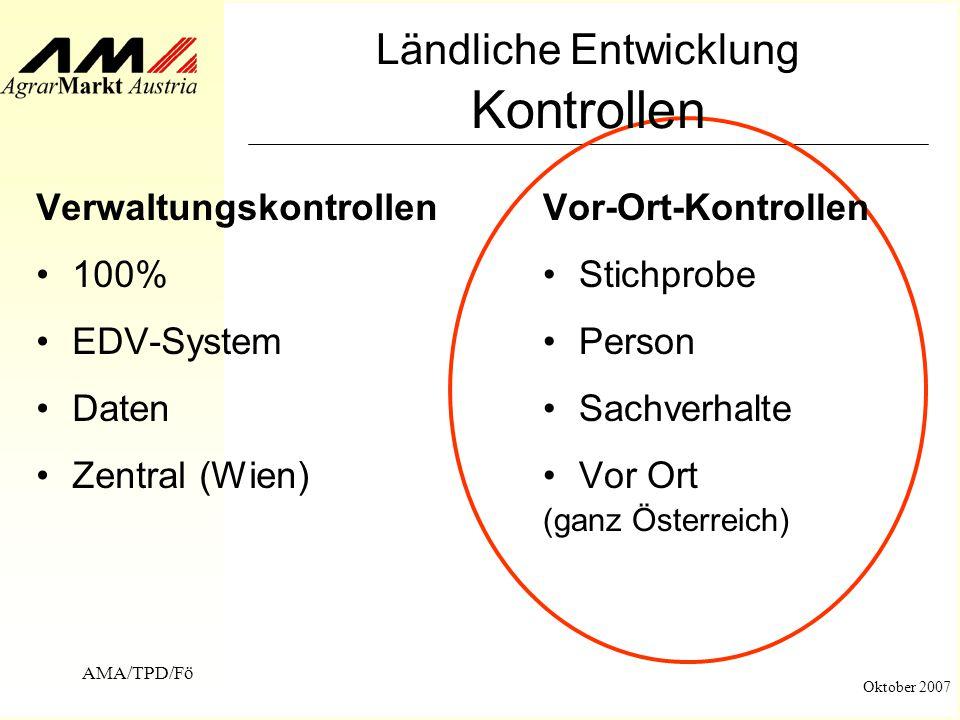 Technischer Prüfdienst (TPD) Ländliche Entwicklung Vor-Ort-Kontrolle ...