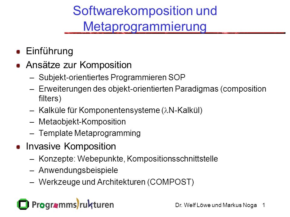 Softwarekomposition und Metaprogrammierung