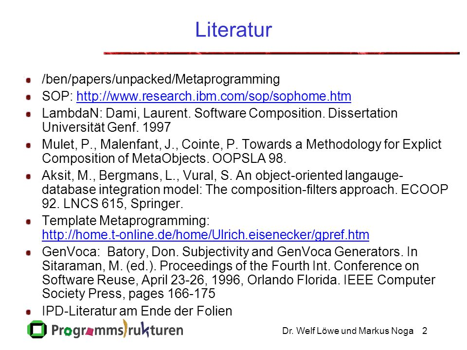 Literatur /ben/papers/unpacked/Metaprogramming