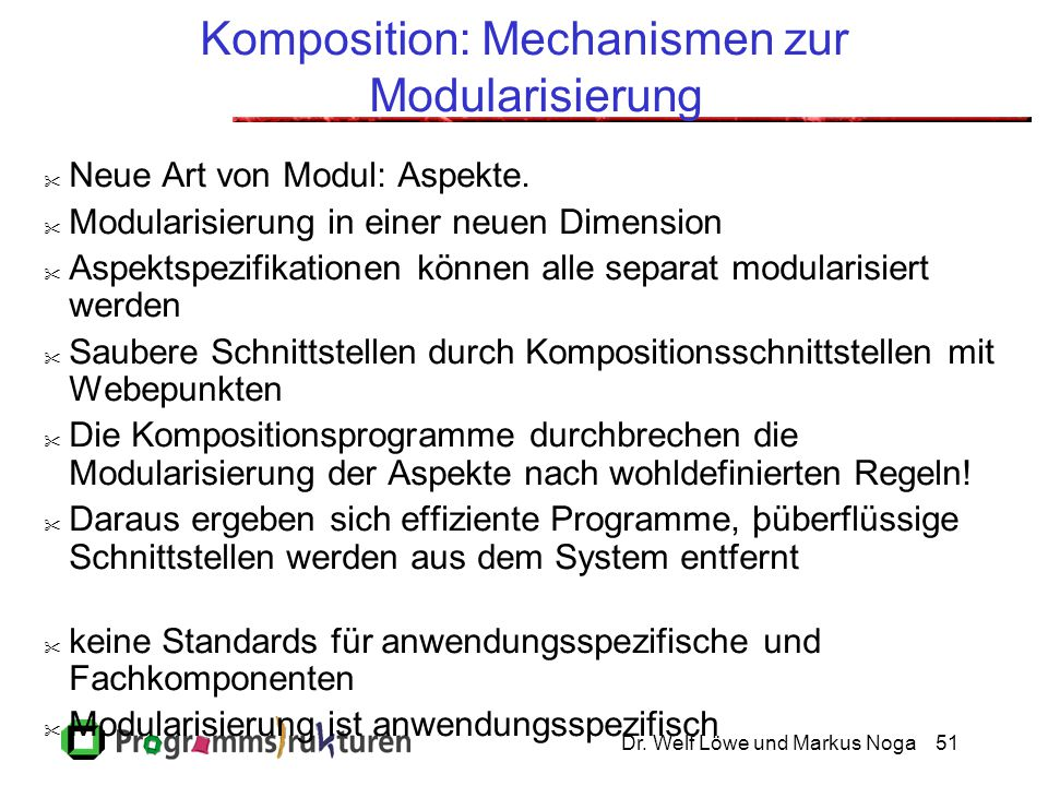 Komposition: Mechanismen zur Modularisierung