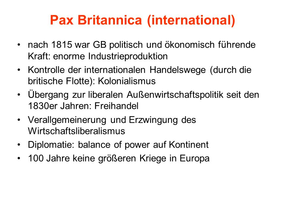 Pax Britannica (international)