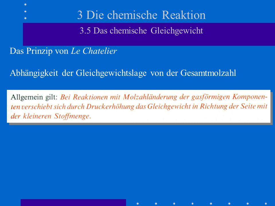 3 Die chemische Reaktion 3.5 Das chemische Gleichgewicht - ppt ...