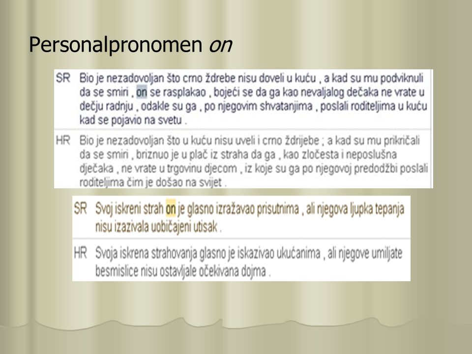 Personalpronomen on