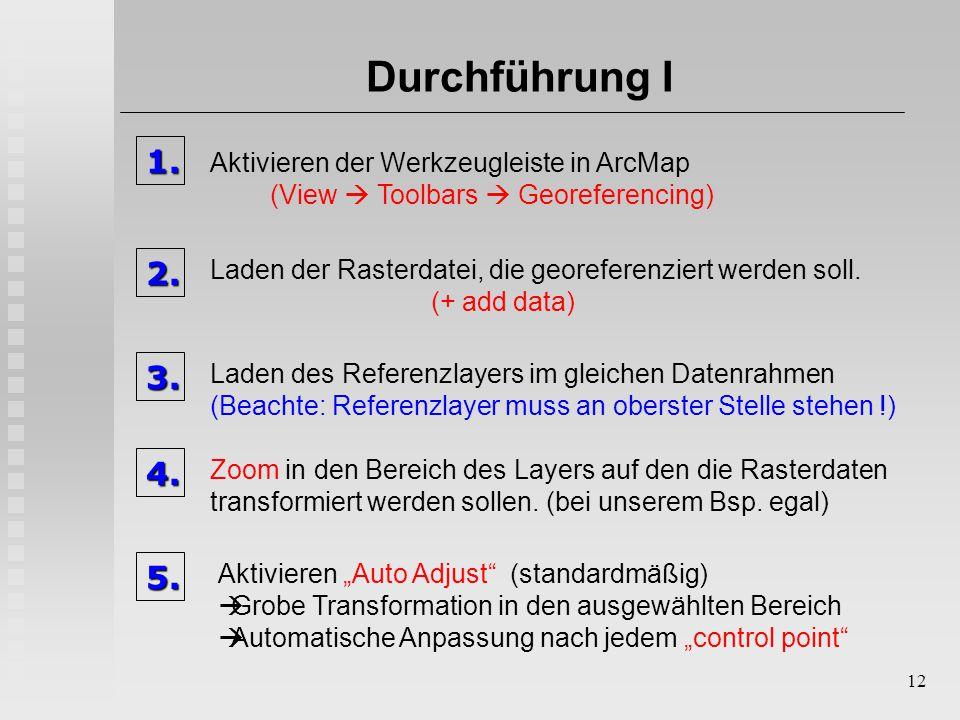 GIS II Proseminar WS 2004/ Raster... Georeferenzierung - ppt ...