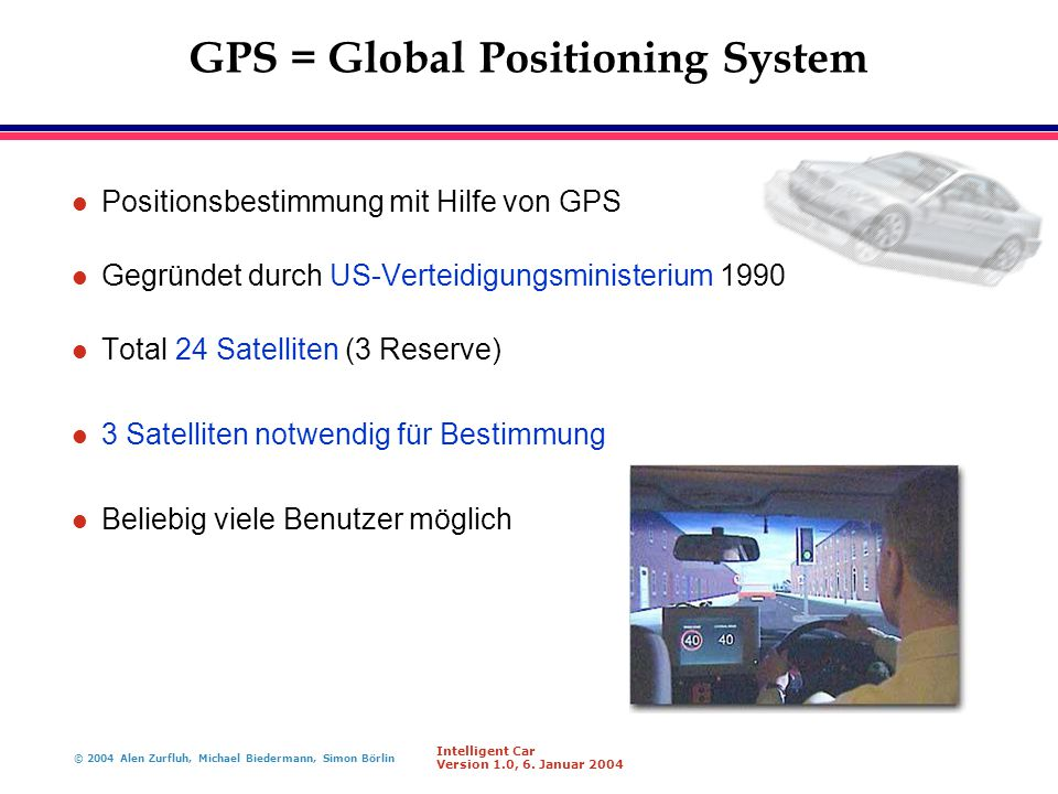 GPS = Global Positioning System