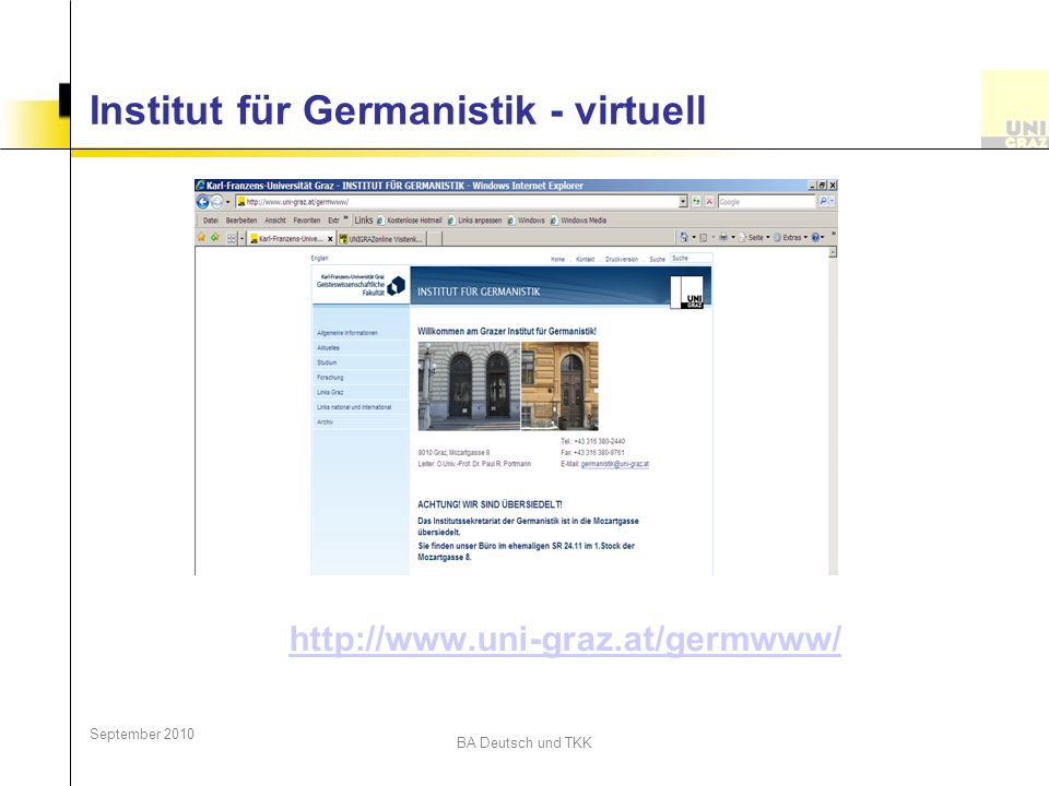 Institut für Germanistik - virtuell