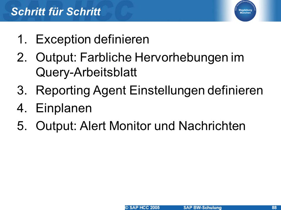 Ordner I SAP HCC Kundenschulung zum SAP® Business Information ...