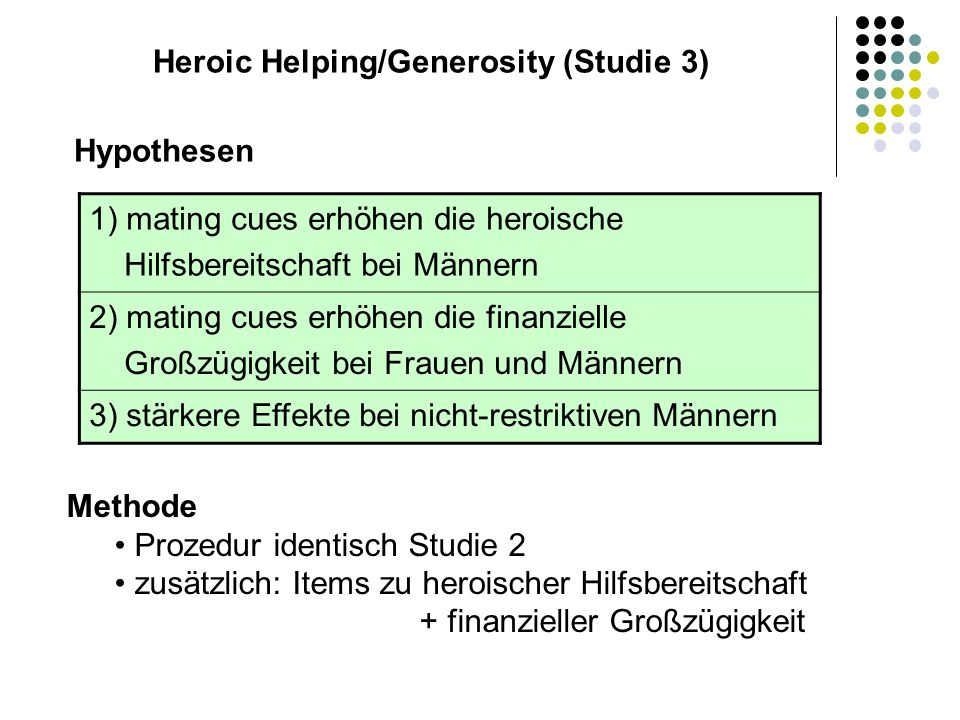 Heroic Helping/Generosity (Studie 3)