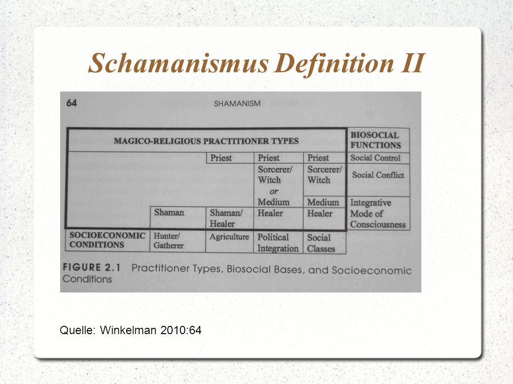 Schamanismus Definition II