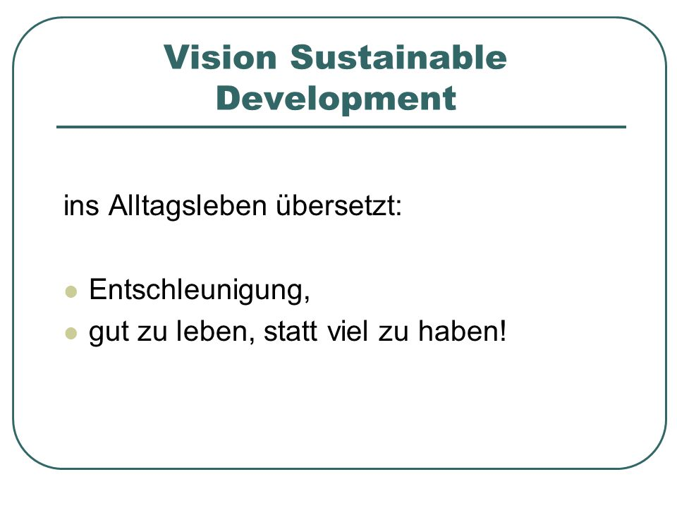 Vision Sustainable Development