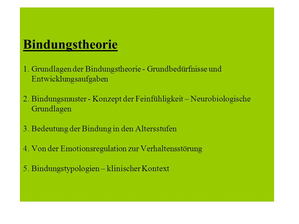 Bindungstheorie 1.