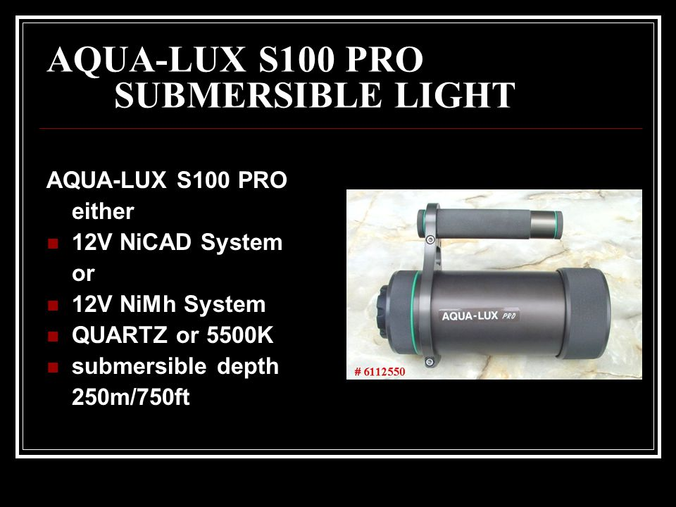 AQUA-LUX S100 PRO SUBMERSIBLE LIGHT