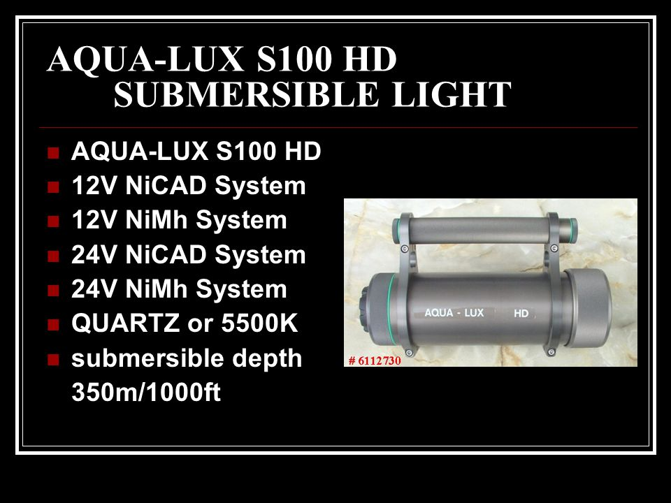 AQUA-LUX S100 HD SUBMERSIBLE LIGHT