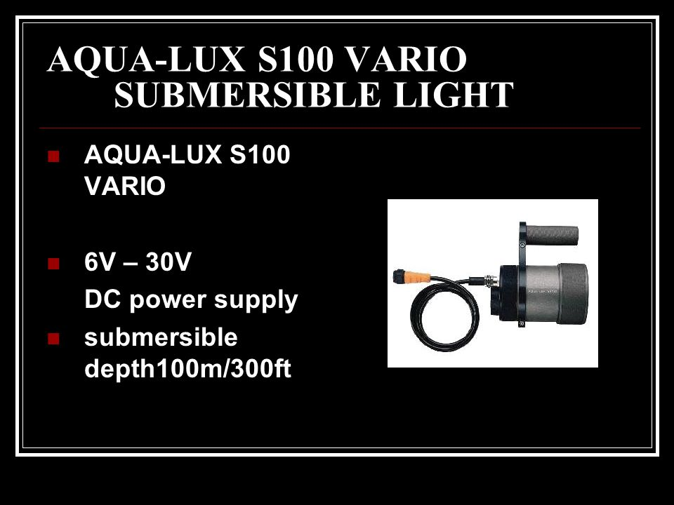 AQUA-LUX S100 VARIO SUBMERSIBLE LIGHT