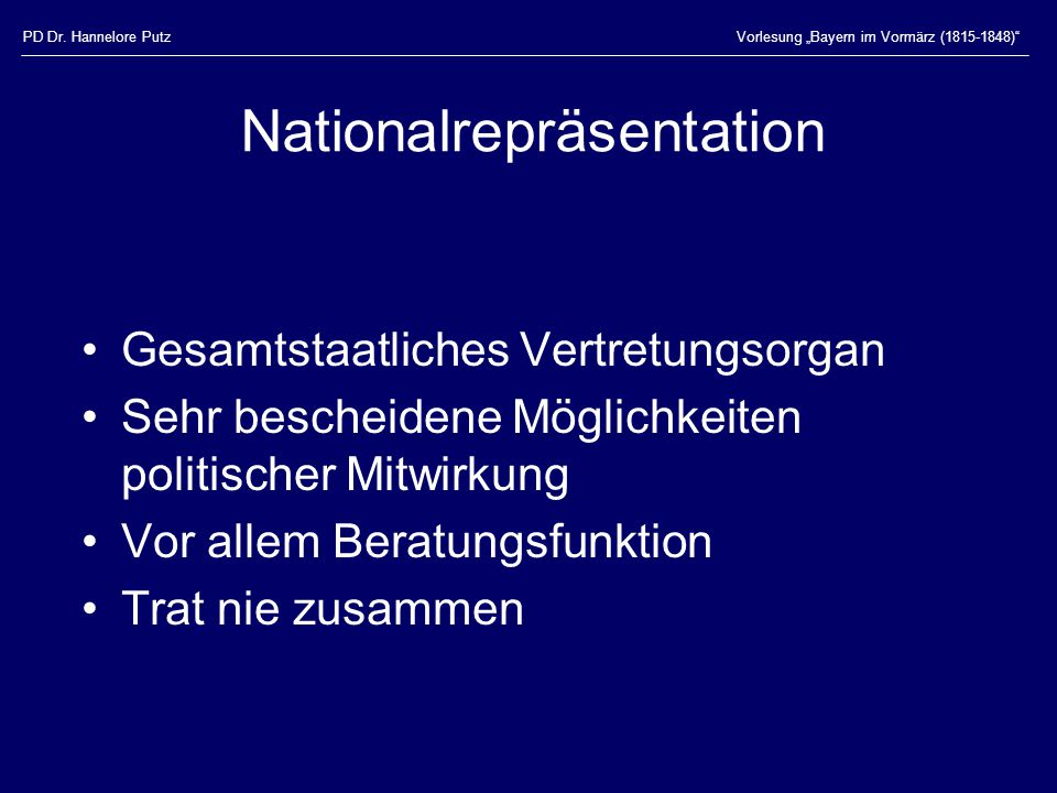 Nationalrepräsentation