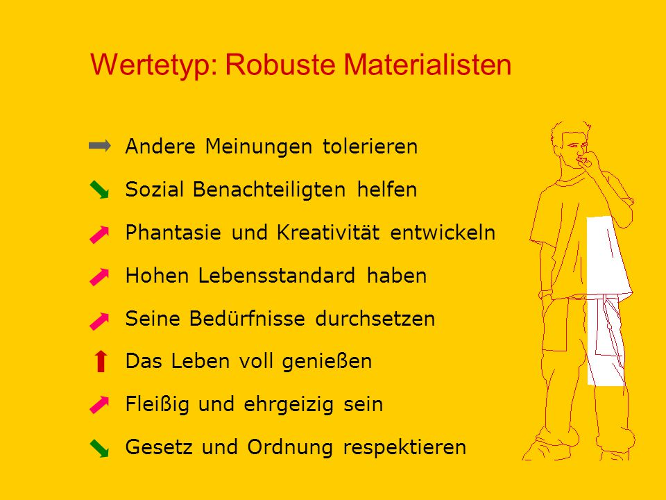 Wertetyp: Robuste Materialisten