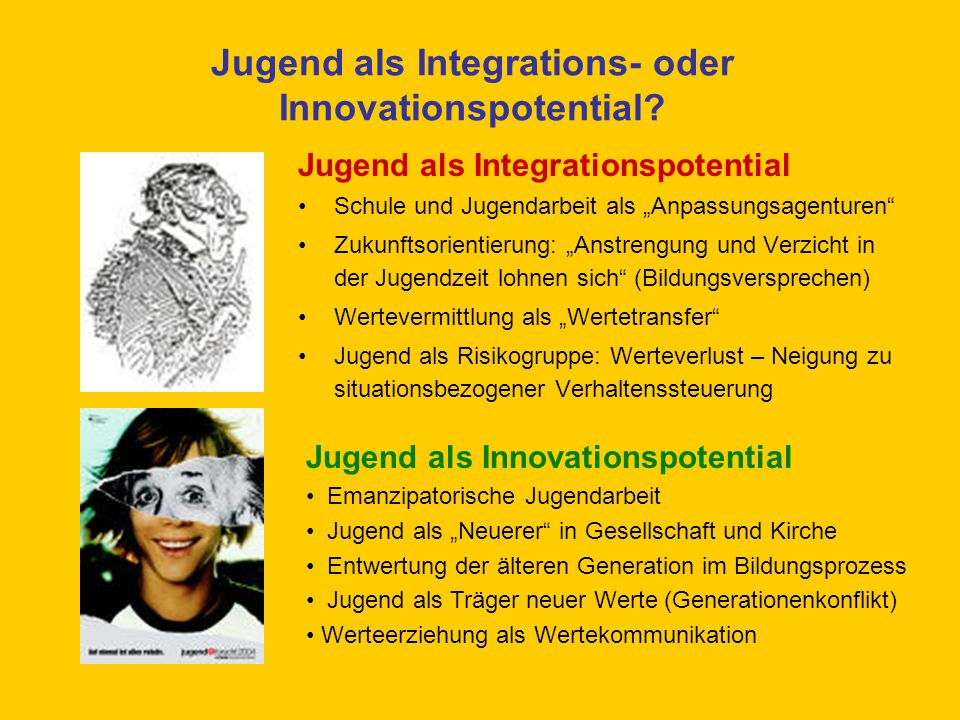 Jugend als Integrations- oder Innovationspotential