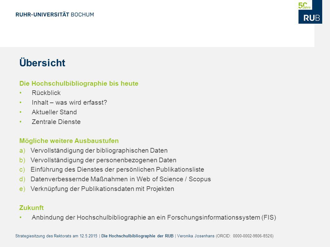Die Hochschulbibliographie Der Ruhr Universitat Bochum Ppt Herunterladen