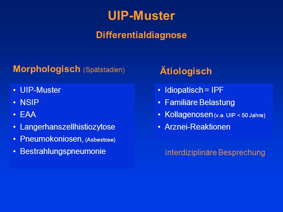 UIP-Muster Differentialdiagnose