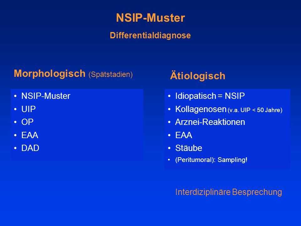 NSIP-Muster Differentialdiagnose